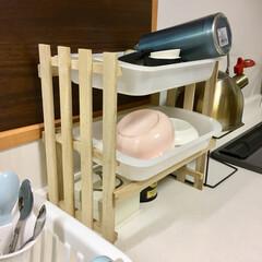 家事/時短/便利/キャンドゥ/DIY/雑貨/... 毎食後に食器を洗った後に伏せるカゴとは別…