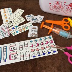 手作りおもちゃ/お医者さんごっこ/はさみ/工作/子供/おもちゃ 子供が何年か前にもらった誕生日プレゼント…