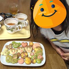 おもてなし/宅配サービス/簡単/楽しい/子供と一緒/クッキー/... 某宅配サービスで、冷凍で届いたクッキー生…