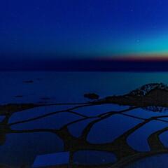ノマド/旅が仕事/スローライフ/インスタグラムやっています/おでかけ/旅行/... 京都府の袖志の棚田の風景です😃 夜明け前…
