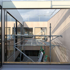 プライベートな中庭/建築家/神奈川県/エッジのデザイン 伊勢原市 ID邸新築工事 現場レポート …