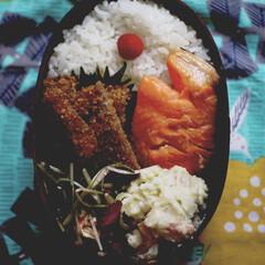 お弁当/グルテンフリー/LIMIAごはんクラブ 米パン粉のビーフカツ🐄。鮮魚さとうさんの…