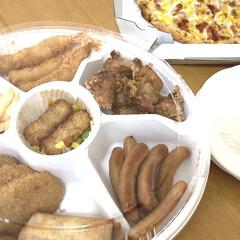 ナルミ シルキーホワイト ペアオーバルプレートセット(皿)を使ったクチコミ「週末にお持ち帰りした、ガストの「ガストミ…」(1枚目)