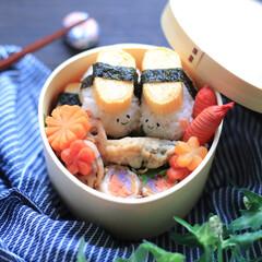 弁当/お弁当作り/寿司/お弁当/春のフォト投稿キャンペーン/フォロー大歓迎/... おはようございます☀ 今日は玉子寿司カッ…