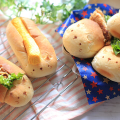 サンドイッチ弁当/お弁当/手作りパン/サンドイッチ/LIMIAごはんクラブ/フォロー大歓迎/... おはようございます☀ 今日は昨日焼いたに…