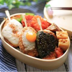 ランチ/お昼ごはん/自分弁当/弁当/お弁当作り/お弁当/... おはようございます☀ 今日はつくね串のお…
