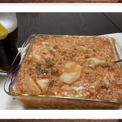 トマトソース/チーズ/ドリア/食事情/キッチン/暮らし/... 彼がいないランチタイムに カブのドリア作…