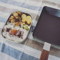 暮らしの道具/ambai玉子焼角/ambai/工房アイザワ/お弁当/キッチン/... 卵焼き用フライパンを 新調しました  鉄…