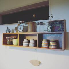 壁に付けられる家具/マグカップ収納/マグカップ/オリゴ/iittala/キッチン/... 結婚祝いに職場の同期からもらった オリゴ…