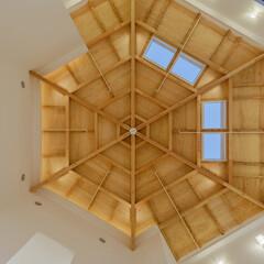 空間/福祉施設/設計士/建築士事務所/建築士/建築家/... 伊勢原かんたき 六角形の建物は、天井も六…