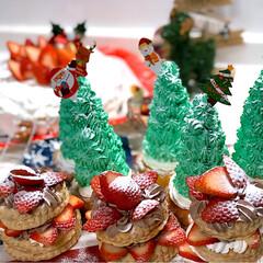 クリスマス2019/キッチン雑貨/キッチン/ハンドメイド/暮らし 今年のクリスマスケーキ🎂 ①ツリーケーキ…