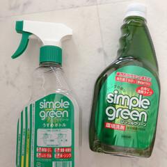 シンプルグリーン 新ピカ5 550ml ムラテックKDS(その他洗剤)を使ったクチコミ「お風呂掃除のキロク ( ᐡ.  ̫ .ᐡ…」