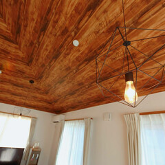 勾配天井/新築/我が家の照明 1年ほどかけて念入りに工務店と相談をし、…
