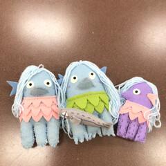 フエルト人形/手作り アマビエ!祭り? 横向の方が人気で、、、…