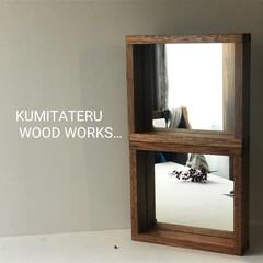 オーダー家具/手づくり/木製/暮らし/ミラー/インテリア/... 置き型ミラー。