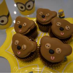 お菓子作り/カップケーキ/チョコマフィン/焼き菓子/ホットケーキミックス/簡単/... 先日作った チョコチップたっぷり カップ…(7枚目)