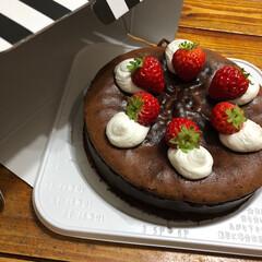 チョコレート/チョコレートケーキ/LIMIA手作りし隊/焼き菓子/手作りケーキ/chocolate/... これも長女と作ったガトーショコラ しっと…(1枚目)