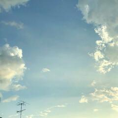 夕空/夕方/朝空/雨雲/雲 怪しい雲があったけど、結局降らずΣ( ̄ロ…