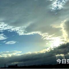 幻日/雲/空 まだまだ風がきつかったよ〜😵 昨日の夜は…