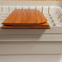 DIY/無印良品/おすすめアイテム/ここが好き 無印良品頑丈収納ボックス大のフタにはめて…(3枚目)