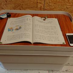 DIY/無印良品/おすすめアイテム/ここが好き 無印良品頑丈収納ボックス大のフタにはめて…(4枚目)