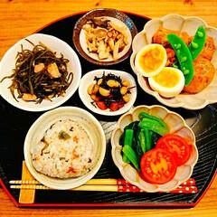 手抜きご飯/簡単ごはん/夕飯/ワンプレート/和食/晩ごはん/... 2019.3.11  Wednesday…