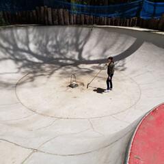 スケートボード/スケボー/スケボー場/バーベキュー場/キャンプ場 GW中。 コテージ掃除にトイレ掃除、バー…