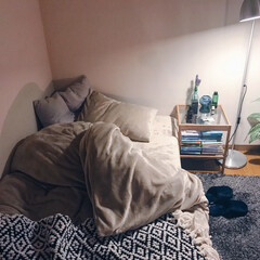 ベッドサイド/ベッドルーム/ベッド/マイルーム/インテリア/家具/... (1枚目)