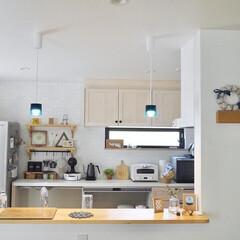 カフェ風キッチン/カフェ風インテリア/ウッドワン/2児のママ/キッチン収納/暮らしを楽しむ/... お家カフェを楽しめるような そんなキッチ…