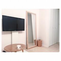 テレビスタンド/一人暮らしインテリア お気に入りのテレビスタンド♡