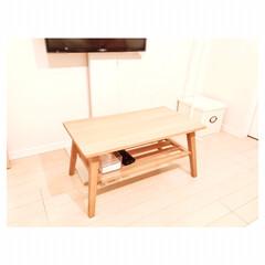 センターテーブル/一人暮らしインテリア/テレビスタンド テーブルを新しくしました♡ 一人暮らしに…