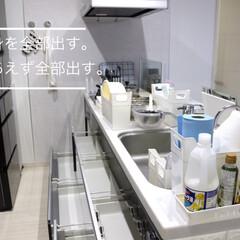 掃除/キッチン整理収納/キッチン整理/整理収納/整理/フォロー大歓迎/... キッチン収納の掃除と整理の仕方をアイデア…