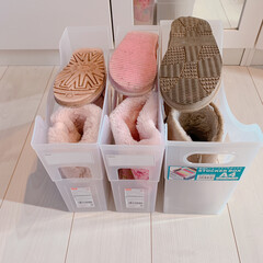 ファイルボックス収納/ファイルボックス/収納/雑貨/暮らし/住まい/... わたしと娘のブーツを余っていたファイルボ…