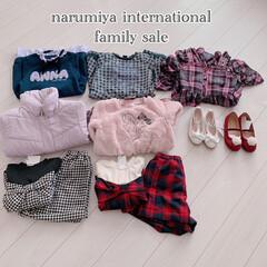 女の子のママ/女の子服/セール購入品/購入品/バーゲン/セール/... 先月ナルミヤインターナショナルのファミリ…