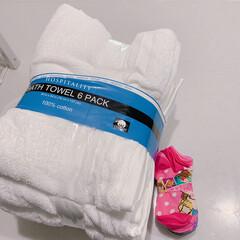 バスタオル/購入品/お買い物/ホテルタオル/業務用タオル/業務用バスタオル/... コストコで購入したこの業務用バスタオル!…