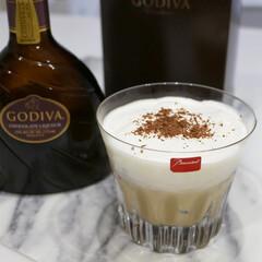 GODIVA/バレンタインカクテル/バレンタインデー/バレンタイン/カクテル/カフェモカ/... ゴディバのチョコレートリキュールで作るカ…