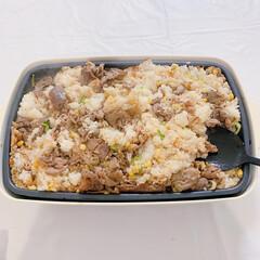 ブルーノ料理/ブルーノグランデ/ブルーノ/ペッパーライス/ホットプレート/BURUNO/... ペッパーライスを焼いて混ぜたらこんな感じ…