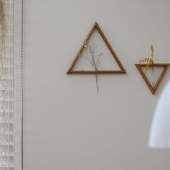 ウスネオイデス/ウッドブラインド/壁掛けサンカク/照明/トルボー/LIMIAインテリア部/... トルボー越しに見る壁掛けサンカクが大好き…
