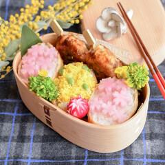 お花見弁当/桜弁当/LIMIAごはんクラブ/わたしのごはん/おうちごはんクラブ お花見に持っていきたいオープン稲荷