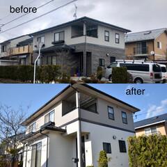 塗装/ビルダーズビルド仙台/住まい/リフォーム 屋根外壁の塗装工事。築15年のお宅です。…