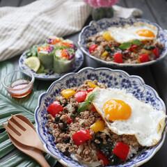 時短料理/エスニック料理/ガパオライス/お昼ごはん/おうちごはん/ランチ/... 今日のお昼ご飯は ガパオライスでした。 …