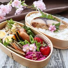 旦那弁当/お弁当/LIMIAごはんクラブ/わたしのごはん/おうちごはんクラブ/グルメ/... パパ弁当 鰤の醤油漬焼き 牡蠣の天ぷら …