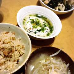 和食/アサリ料理/豆腐メニュー/蒸し豆腐/初挑戦/たけのこ/... 今日も一日、暑かったですね💦💦  今日の…