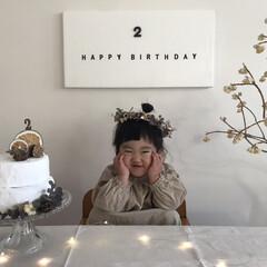 クレイケーキ/バースデーケーキ/バースデーフォト/キッズファッション/フォロー大歓迎/はじめてフォト投稿/... happy birthday ❤︎