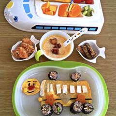 3coins新幹線プレート/バースデーランチ/わたしのごはん 息子の2歳の誕生日に好きなものを作ってみ…