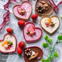 手作り/お菓子作り/甘党大集合/LIMIAごはんクラブ/猫/おうちごはんクラブ/... マンディアン 今年のバレンタインに作った…
