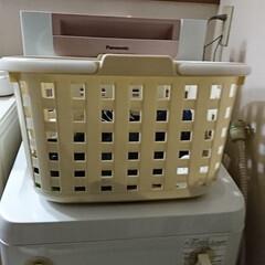 ランドリーボックス なーんて普通の洗濯かごです(笑) ただ洗…