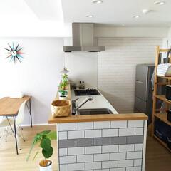 こどものいる暮らし/グリーンのある生活/快適な暮らし/持ちすぎない暮らし/暮らしを整える/インテリア/... キッチン周辺はこまめに拭き掃除しています…