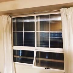 光モール パネルフレーム用上レール 2711 オフホワイト(その他金物、部品)を使ったクチコミ「マンション西側の直射日光が当たる窓に二重…」