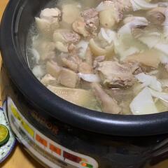 食事情 ココナッツのスープで鶏肉を煮込む鍋です。…(2枚目)